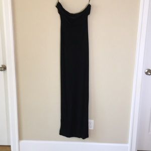 Sz 8 ABS long black strapless dress